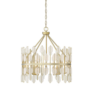Savoy House - 7-2161-5-127 - Five Light Pendant - Royale - Noble Brass