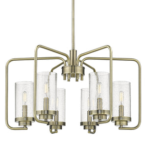 Golden - 2380-6 AB-SD - Six Light Chandelier - Holden AB - Aged Brass