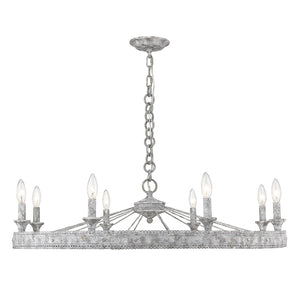 Golden - 7856-8 OY - Eight Light Chandelier - Ferris OY - Oyster
