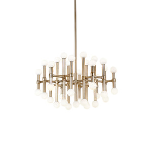 Kuzco Lighting - CH96128-VB - Chandelier - Rivoli - Vintage Brass