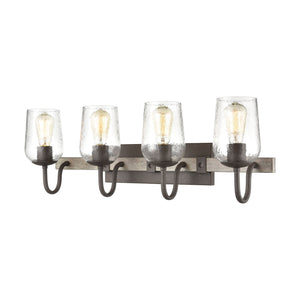 Elk Lighting - 15373/4 - Four Light Vanity - Dillon - Vintage Rust, Colonial Maple