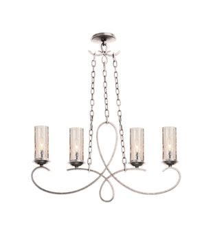 Kalco - 2669PS/1100 - Four Light Island Pendant - Grayson - Pearl Silver