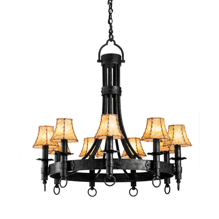 "Kalco Nine Light Chandelier 36.00"" Black"