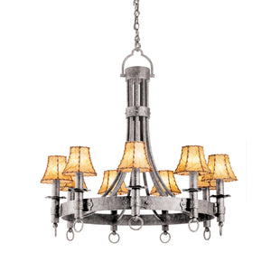 Kalco - 4209CI/8045 - Nine Light Chandelier - Americana - Country Iron