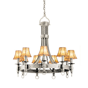 Kalco - 4209FC/8045 - Nine Light Chandelier - Americana - French Cream