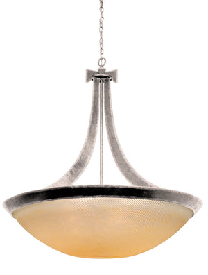 Kalco - 4348PS/ANTQ - Six Light Pendant - Copenhagen - Pearl Silver