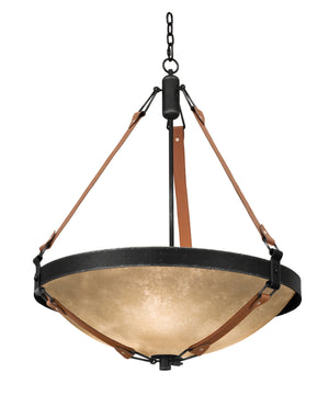 Kalco - 4647B/ECRU - Six Light Pendant - Rodeo Drive - Black