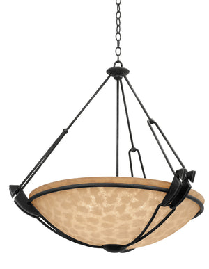Kalco - 4845B/ECRU - Three Light Pendant - Grande - Black