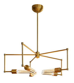 Stone Lighting - CH555BBRTL6B - LED Chandelier - Boomer - Brushed Brass