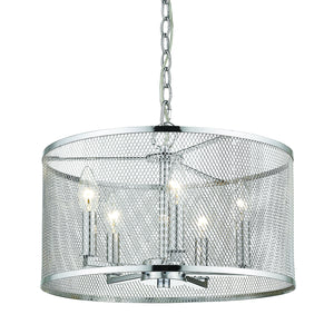 Golden - 2245-5 CH - Five Light Pendant - London - Chrome