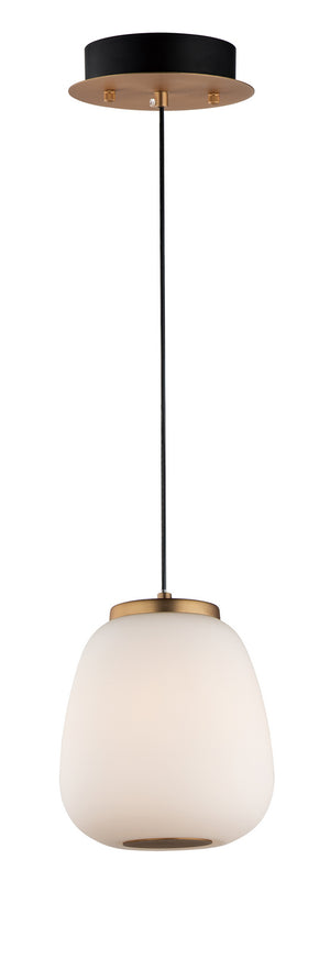 ET2 - E25063-92BKGLD - LED Pendant - Soji - Black / Gold