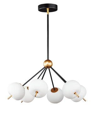 ET2 - E25116-92BKGLD - LED Pendant - Quest - Black / Gold