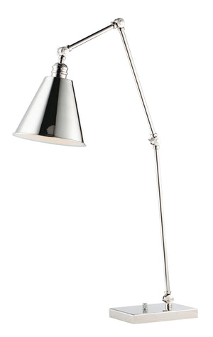 Maxim - 12226PN - One Light Table Lamp - Library - Polished Nickel
