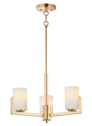 Maxim - 21285SWSBR - Three Light Chandelier - Dart - Satin Brass