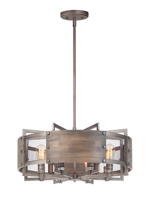 Maxim - 25266BWWZ - Eight Light Pendant - Outland - Barn Wood / Weathered Zinc