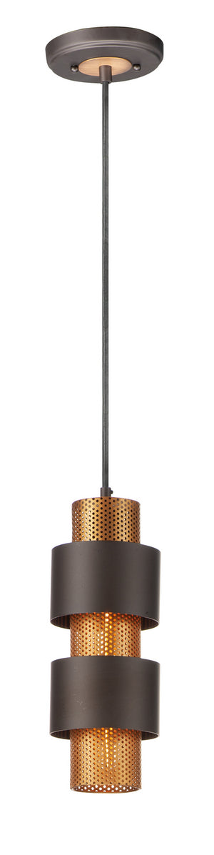 Maxim - 31209OIAB - One Light Mini Pendant - Caspian - Oil Rubbed Bronze / Antique Brass