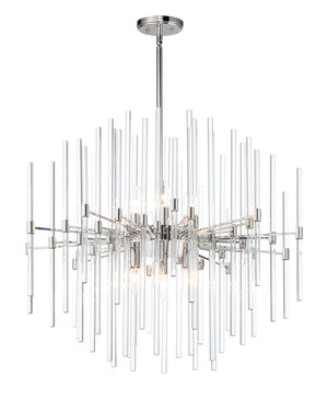 Maxim - 38406CLPN - Eight Light Chandelier - Divine - Polished Nickel