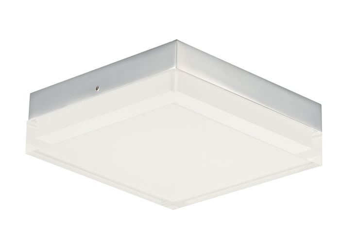 "Maxim LED Flush Mount 6.25"" Polished Chrome"