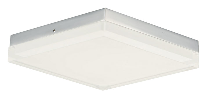 "Maxim LED Flush Mount 10.50"" Polished Chrome"