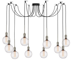 Stone Lighting - SWG98810SNBG125CRBL - LED Chandelier - Penny Lane - Satin Nickel