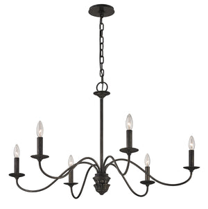 Troy Lighting - F6825 - Six Light Chandelier - Poppy Hill - Pompeii Silver