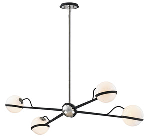 Troy Lighting - F7167 - Four Light Island Pendant - Ace - Carb Blk W Pol Nickel Accents