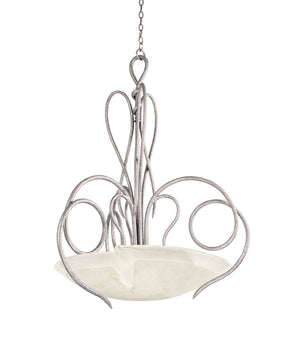 Kalco - 4287PS/FROST - Three Light Pendant - Tribecca - Pearl Silver