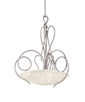 Kalco - 4297PS/FROST - Six Light Pendant - Tribecca - Pearl Silver