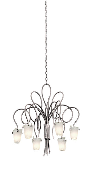 Kalco - 4308PS/FROST - Six Light Chandelier - Tribecca - Pearl Silver