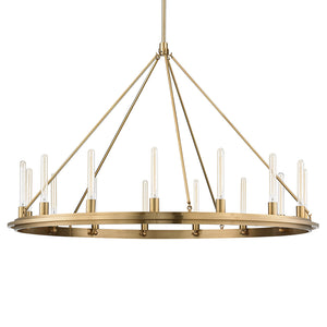 Hudson Valley - 2758-AGB - 15 Light Pendant - Chambers