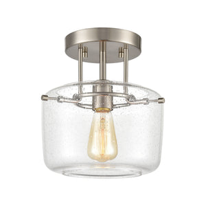 Elk Lighting - 85271/1 - One Light Semi Flush Mount - Jake - Satin Nickel