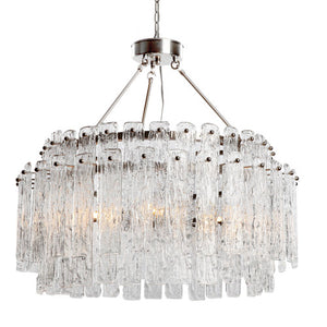 Viz Art Glass - Brushed Nickel Synfonia Chandelier - CH-B7-8SN
