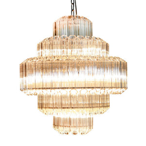 Viz Art Glass - Polished Nickel Chandelier - CH-D3-13PN