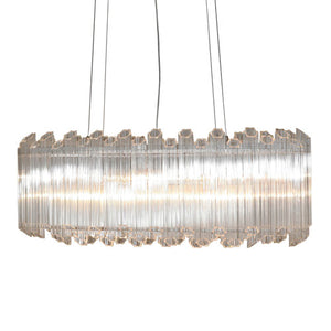 Viz Art Glass - Polished Nickel Chandelier - CH-D3-8PN