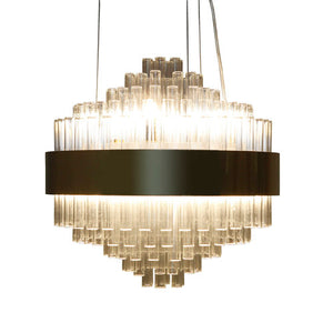 Viz Art Glass - Polished Brass Dorado Chandelier - CH-D4-10RG