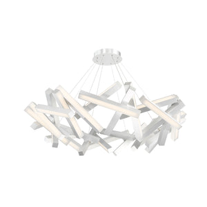 "Modern Forms LED Chandelier 34.00"" Chaos PD-64834-AL"