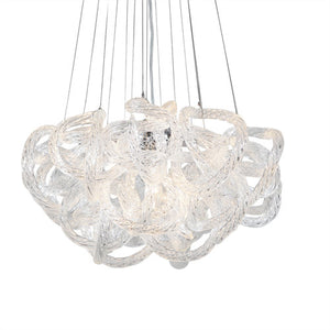 Viz Art Glass - Clear Glass Chrome Infinity Chandelier - CH-2416-5C