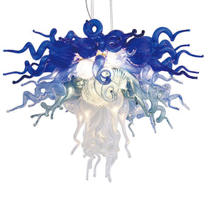 Viz Art Glass ColorSelect Blue Ombre Chandelier