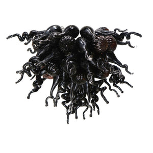 Viz Art Glass ColorSelect Obsidean Chandelier