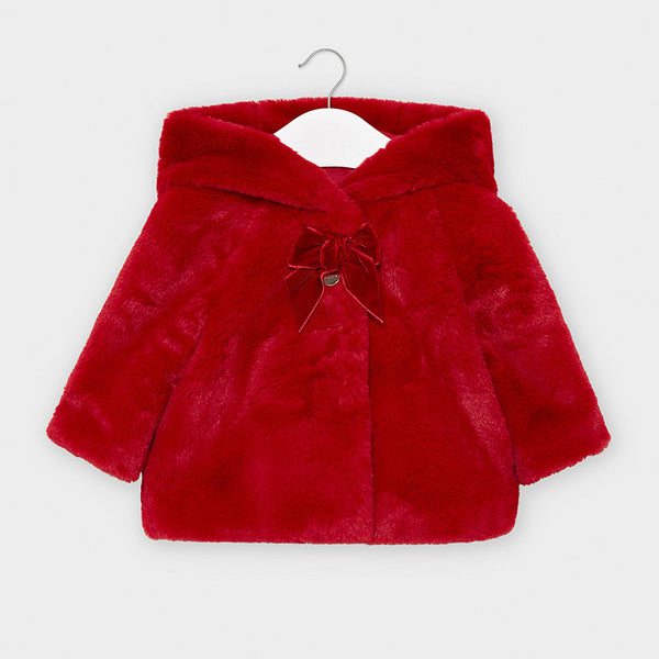 Mayoral plush coat 2408 red