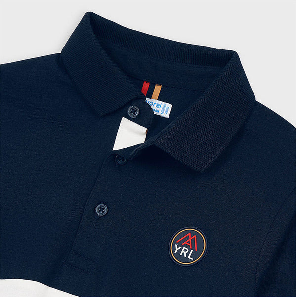 Mayoral Long sleeved combined polo shirt 4129