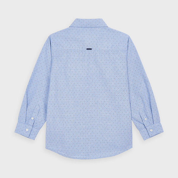 Mayoral  Long sleeve sky blue shirt 4143
