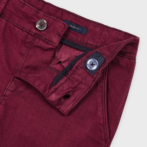 Mayoral burgundy chino trousers 4529