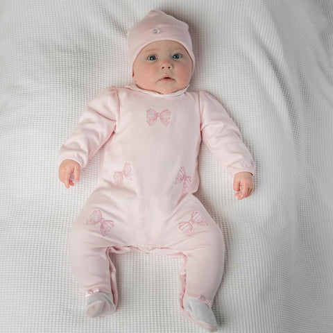 Emile et Rose Winter Baby Girls Babygrow & Hat