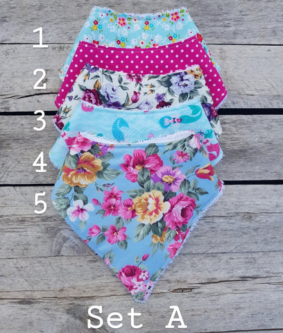 Lace & Lillies Girls handmade bibs