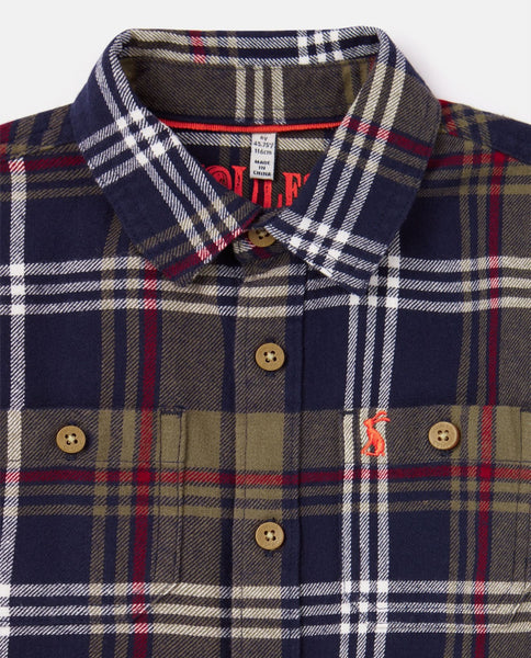 Joules brushed check shirt