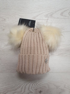 MSC Kids double pom hat - Beige