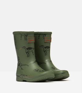 Joules Dino roll up wellies