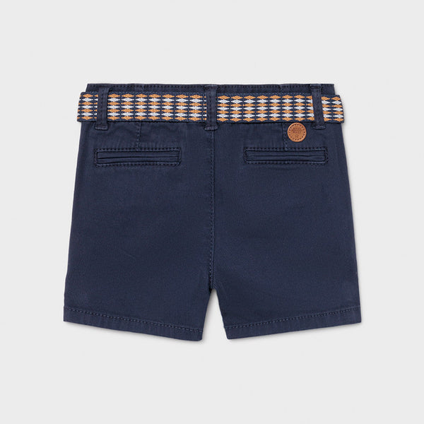 Mayoral navy shorts with belt 1238
