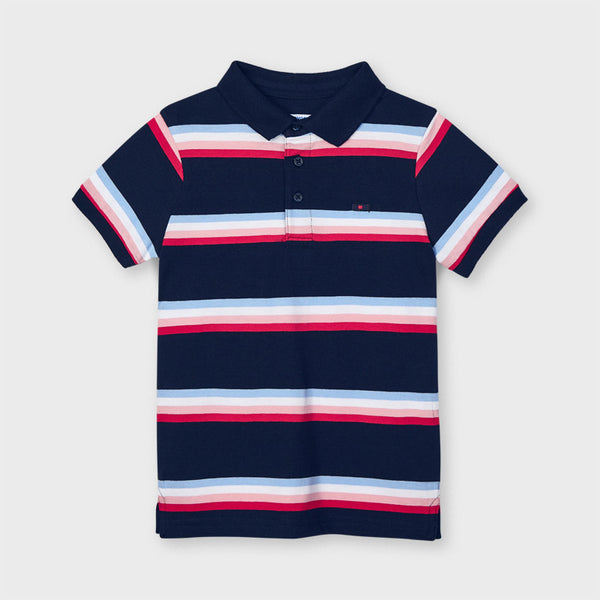 Mayoral stripe short sleeve polo 3111